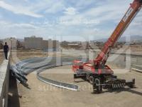 طراحی و ساخت سوله سالن ورزشی چند منظوره پارک فدک ساوه استان مرکزی
