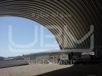 نصب 50 درصد از سقف UBM سوله ورزشی پارک فدک ساوه